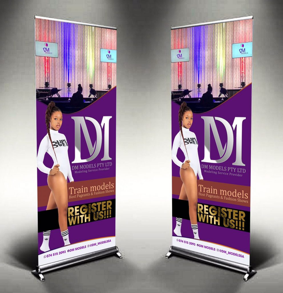 How to Design a Professional Roll Up Banner | Photoshop Tutorial Free PSD File